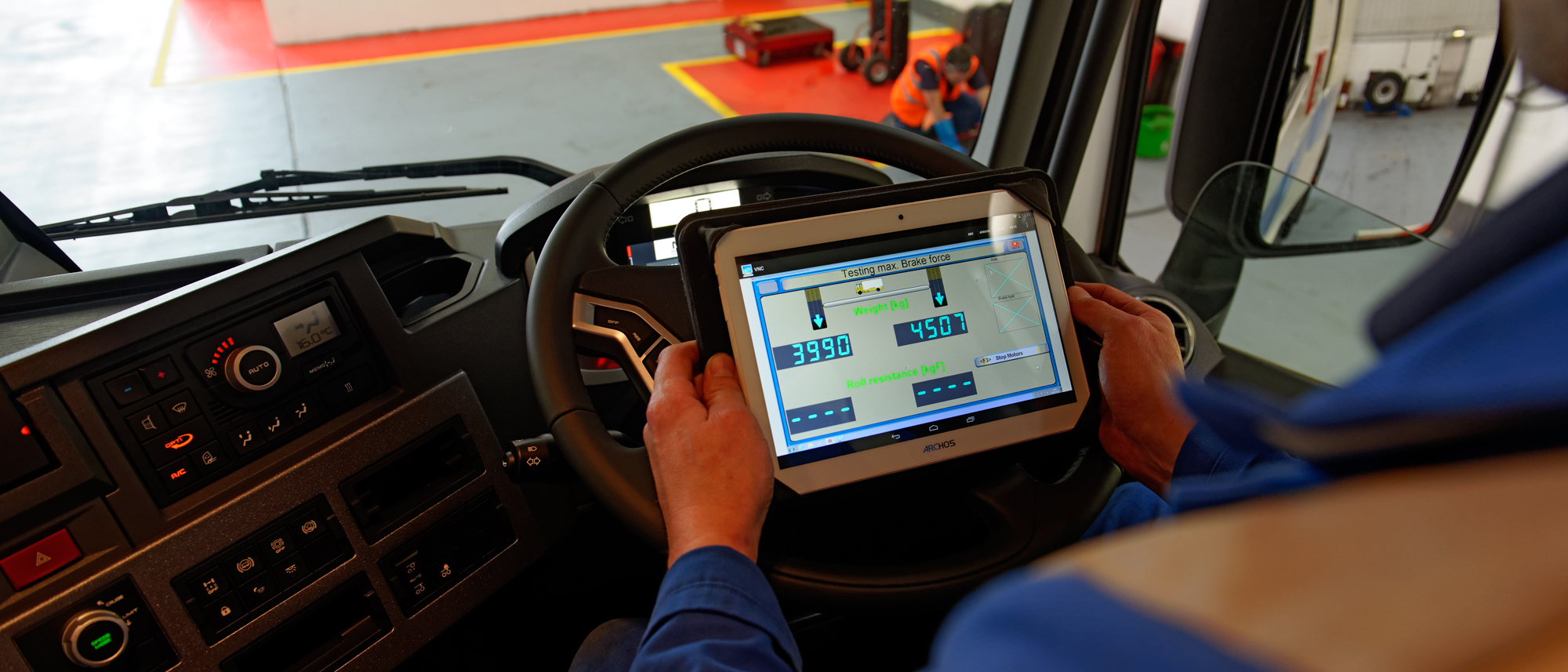 Commercial Brake Testing, Using Wireless Tablet